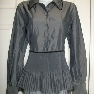 COLDWATER CREEK Button Front Crinkled Top Medium